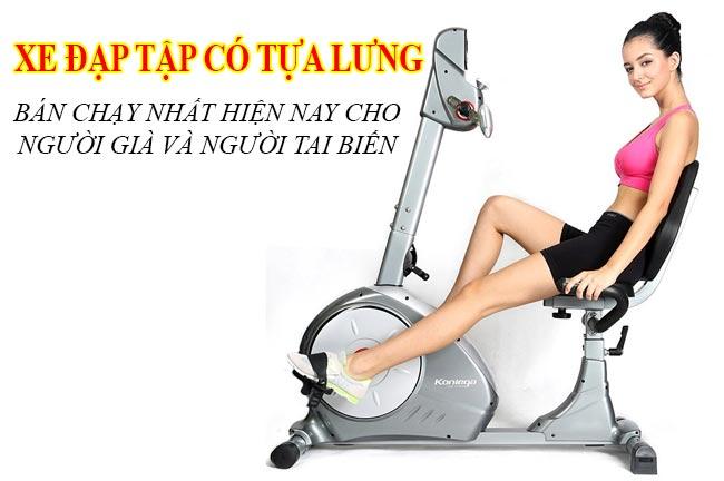 Xe đạp tập có tựa lưng bán chạy nhất hiện nay