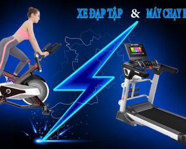Xe đạp tập và máy chạy bộ : Máy tập cardio nào tốt hơn